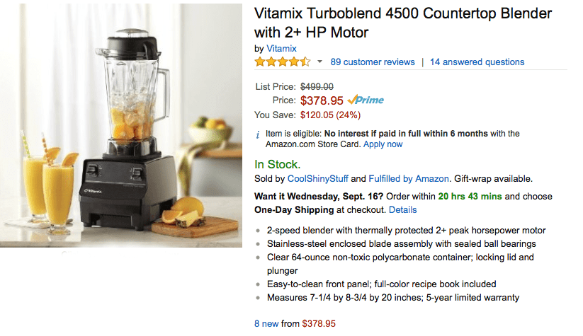 Vitamix Turbo 4500